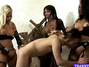 guy fucked by 3 tranny mistresses